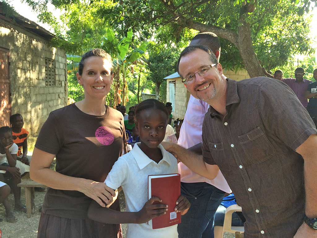 Kevin and Tracy Bolin in Haiti