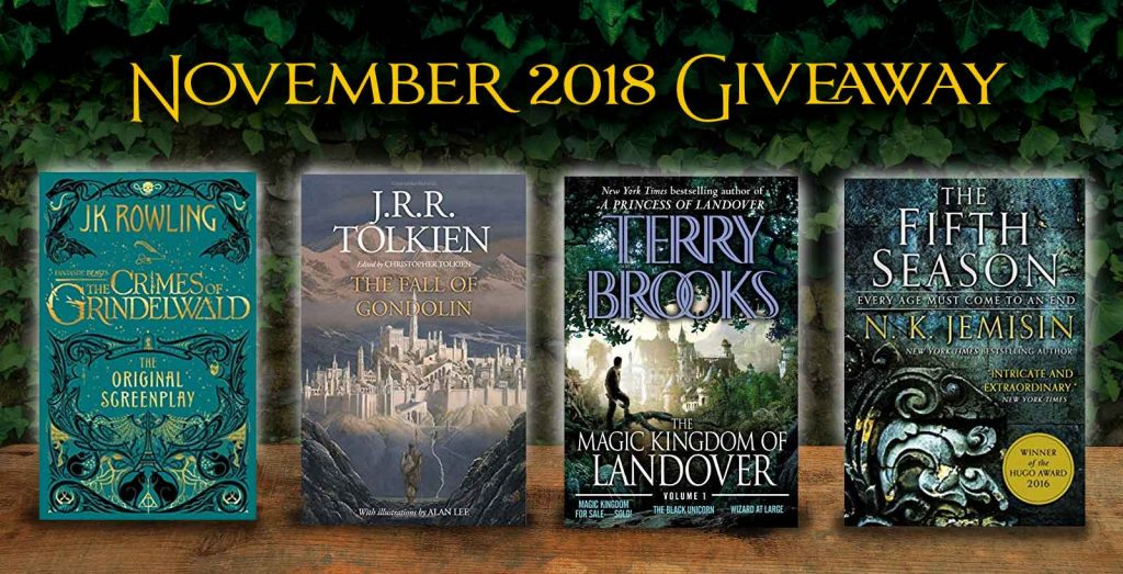 November 2018 book giveaway